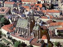 Bird view on Brno Cathedral